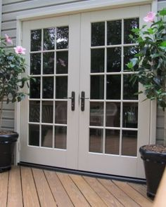 Door Design:Exquisite Amazing French Doors Deck With Kelle Dame Sliding Patio Door Vs Modern Style Custom Made And Exterior Small Replacement Interior Outside Prehung Double Entry Sizes Appealing french patio doors Double French Doors, French Doors Patio, Sliding Patio Doors, Entry Doors, French Patio, Garage Doors, The Doors, Windows And Doors, Wood Doors