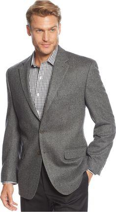 $450, Cashmere Blend Herringbone Sport Coat by Lauren Ralph Lauren. Sold by Macy's. Click for more info: http://lookastic.com/men/shop_items/151657/redirect
