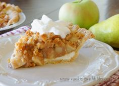 Cooking With Libby: Apple & Pear Crumble Pie