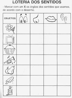Risultato immagini per els sentits primero primaria Senses Preschool, Senses Activities, Preschool Activities, Kindergarten Math Worksheets, Science Worksheets, In Kindergarten, Kids Education, Special Education, English Activities