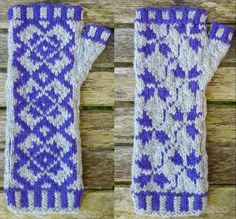 Shetlander is a pair of fingerless mitts inspired by, you guessed it, traditional Shetland knitting