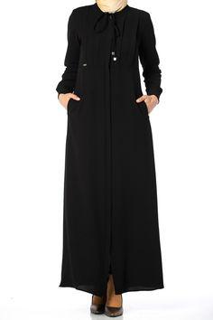 Butikzade - Sena Ferace DF-1168-01-Siyah Duster Coat, Couture, Jackets, Fashion, Down Jackets, Moda, Fashion Styles, Jacket, Fasion