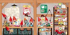 Lucie Brunelliere Carousel Books L'atelier du Père Noël à déplier