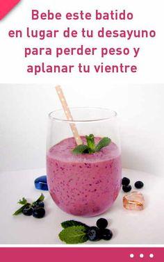 Bebe este batido púrpura en lugar de tu desayuno para perder peso y aplanar tu vientre