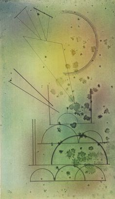 Geometrische Formen (Geometrical Forms) 1928. Vasily Kandinsky. Pen and black ink and watercolor on laid paper