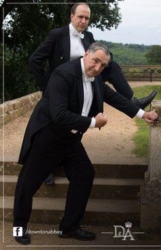 thisisdownton: explorer327: Carson and Molesley all pumped up for Season 6! Bring it on! What dorks! ..