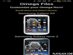 Omega Files  Android App - playslack.com , Omega Files**Get this app to use it with your current device version and repo and not for future repo updates,some devices may not get often repo updates or may never get an update at allPlease do not spam the rating asking for Omega rom updates**Customize your rom!In Omega Files you will find everything you need to build and customize your rom the way you like it.Supported Devices Galaxy S5 G900F-I - Galaxy S4 I9505 & I9500 - Galaxy S3 I9300…
