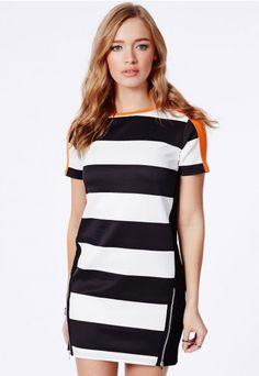 Lizeth Shift Dress In Colourblock - Dresses - Mini Dresses - Missguided