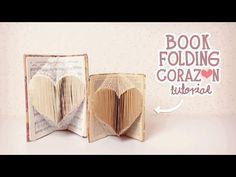 nerDIY: BOOK FOLDING/DOBLAR LIBROS CORAZÓN ¡SÚPER FACIL! - YouTube