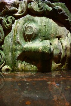 Medusa in the cisterns of Istanbul