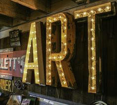 Vintage Marquee Lights: ART $1635.00