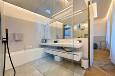 FritsJurgens pivot door. Residential house, Vienna. Architect: FADD Architects
