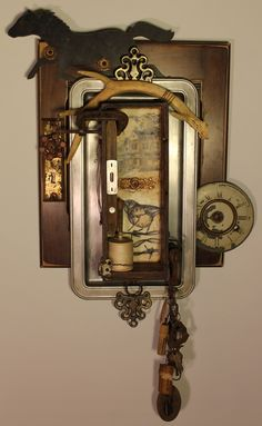 """Remnants of the Old Grove Oak Farm House"" Lovely! Timeless Series - Kathy Moore Assemblage Artist"