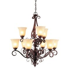 Hampton bay grace 5 light rubbed bronze chandelier with seeded glass hampton bay grace 5 light rubbed bronze chandelier with seeded glass shades chandeliers lights and dining mozeypictures Image collections