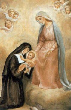 Resultado de imagen para STA MARGARITA Mª DE ALACOQUE  y su angel de la guarda