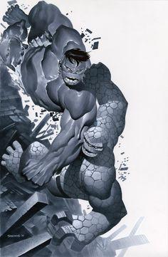 "Hulk vs Thing by chriss2d.deviantart.com #geek #comics #art  ""Clobbering v Smashing"""