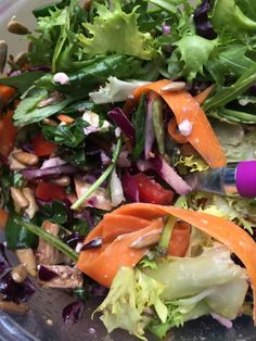 Red Cabbage, Carrot and Sunflower Seed Salad, or how to throw together a salad with whatever you have in the fridge! on iheartboxes.wordpress.com