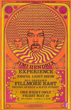 Jimi Hendrix Experience at Fillmore East 5/10/68 by David Byrd