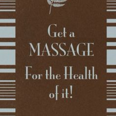 Massage for HEALTH! Come to Pressure Point Massage Therapy in Southfield, MI for a FANTASTIC massage! Call us NOW at (248) 358-8800 to book your appointment! Feel free to visit our website www.pressurepoint... for more information!