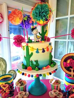 Beck M's Birthday / Mexican Fiesta - Photo Gallery at Catch My Party Mexican Fiesta Birthday Party, 2nd Birthday Party Themes, Fiesta Theme Party, Birthday Cake, Taco Party, Birthday Ideas, Mexican Party Decorations, Deco Table, Blog