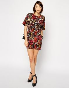 Tapestry print is ace. These shorts and combo top are brill.