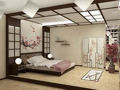 Japanese Bedroom Design Ideas: furniture, accessories, decor in Pictures