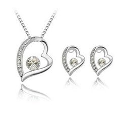 New fashion crystal jewelry suite Korean heart-shaped necklace earring sets forever wholesale and retail China Jewelry, Crystal Jewelry, Jewellery, Heart Shaped Necklace, Wedding Jewelry Sets, Bridal Necklace, Pendant Earrings, Earring Set, Heart Ring