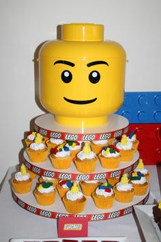 Cupcakes at a Lego Party #lego #partycupcakes
