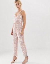 Order Needle and Thread floral embellished jumpsuit with tie waist in rose quartz online today at ASOS for fast delivery, multiple payment options and hassle-free returns (Ts&Cs apply). Get the latest trends with ASOS. Lace Top Jumpsuit, Embellished Jumpsuit, Jumpsuit Dressy, Dressy Jumpsuit Wedding, Asos, Jumpsuit For Wedding Guest, Bridal Dresses, Prom Dresses, Needle And Thread