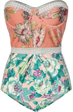 Zimmermann Celestial floral-print underwired swimsuit on shopstyle.com
