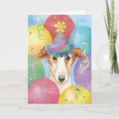 Birthday Balloons Borzoi Card   pug puppies cutest, pug wedding, pug humor #christmasgiftideas #socks #mypeoplearebetterthenyourpeople Birthday Party Hats, Happy Birthday Parties, Happy Birthday Greetings, Birthday Balloons, Pug Wedding, Colourful Balloons, Custom Greeting Cards, Secret Santa