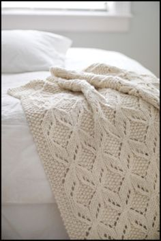 white comfort knit throw