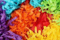 DIY Rainbow Fringe Garland