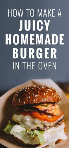 Hamburgers can be cooked many different ways, including on the stove or grill and in the oven. The oven-cooked hamburger also tend to be juicer and more tender because the oven allows heat to be evenly distributed. The most common types of beef used for h