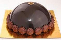 Chocolate mirror glaze bombe cake looks amazing