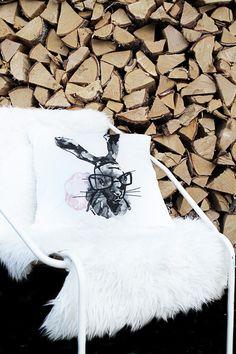 Bunny pillow cover. By Smäm.