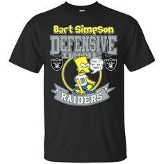 Oakland Raiders shirts Bart Simpson Defensive Dude T-shirts Hoodies Sweatshirts