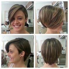 """Se você prefere um visual mais """"todos os fios no lugar"""", que tal este corte com franjão?   14 inspirações para cortar o cabelo curto já"""