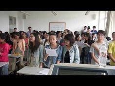 "From China With Love.... an English teacher from Yukon, OK teaches his university students in China how to sing the iconic song ""Oklahoma!"" as a tribute to Oklahomans who experienced the tornado outbreaks the past few weeks."