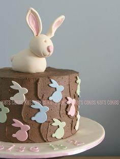 Bunny Birthday cake by Kat's Cakes, via Flickr