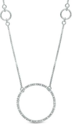 Zales Diamond Accent love Letters Station Necklace in Sterling Silver fzZRL