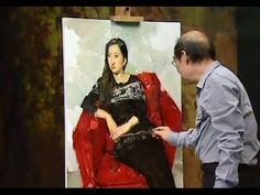 Oil Painting a Portrait of Girl Real-Time 2 - YouTube
