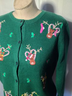 Christmas Sweater/ FREE Shipping/ Girls Ugly by ZassysTreasures, $22.00