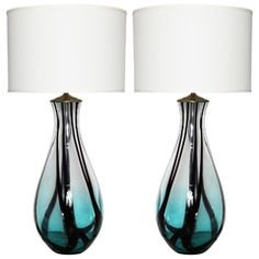 Table Lamps | Back To Main Site Purple Glass, Glass Table, Murano Glass, Table Lamps, Lighting, Google Search, Home Decor, Blue, Image