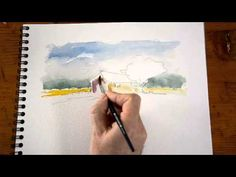 Aquarelle - peindre un cabanon de Provence (1/2) - watercolor tutorial - YouTube