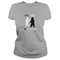 This is an awesome to wear for your family and friend who love animal:  Lets Make A Panda Shirt Funny Polar Bear  TShirts Tee Shirts T-Shirts