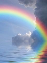 Rainbow over water <3
