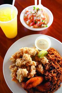 Conch: a Bahamiam delicacy - I'm not generally a lover of raw fish, but this dish looks like a winner.
