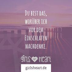 Mehr Sprüche auf: www.girlsheart.de  #liebe #partner #freund #freundin #paar #verliebt #schlafen #einschlafen #bett