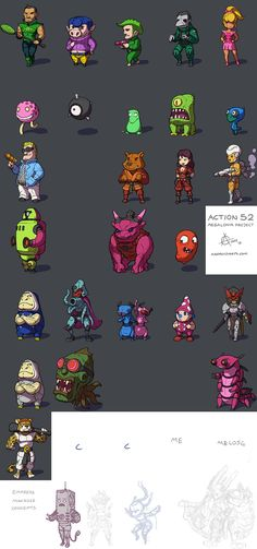 Action 52 Megalonia Character concepts